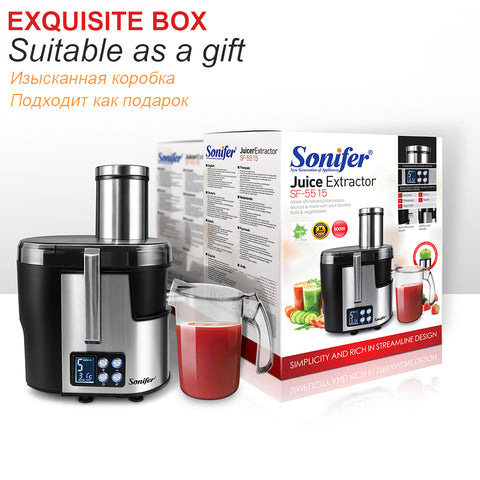 5 Speed Stainless Steel Juicers with LCD Display