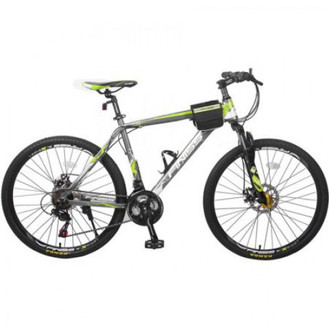"26"" Merax Finiss Aluminum 21-Speed Mountain Bike Racing Bicycle with Disc Brakes"