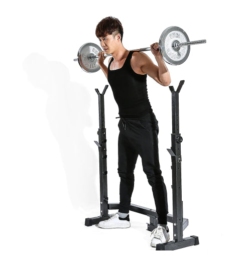 TOMSHOO Home Gym Fitness Equipment Multi-Station Abdominal Arm Muscle Sit Up Bench Weight Board Exercise Barbell Squat Rack
