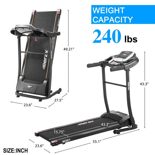 Merax W501 Classic Style Folding Electric Treadmill Home Gym Motorized Running Machine