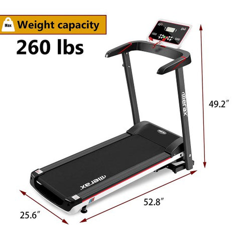Image of P PURLOVE Treadmill Folding Electric Treadmill Power Motorized Running Machine Treadly Treadmill for Running