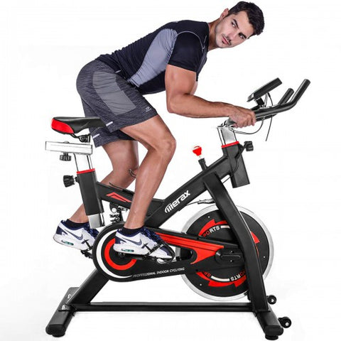 Image of Merax S501 Indoor Cycling Bike Belt Drive Exercise Bike with 28lbs Flywheel