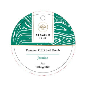 100mg Jasmine CBD Bath Bomb – 5oz