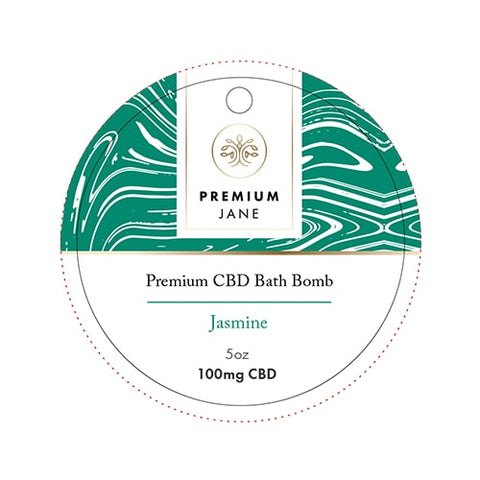 Image of 100mg Jasmine CBD Bath Bomb – 5oz
