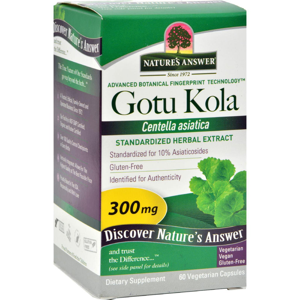 Nature's Answer Gotu Kola Herb - 60 Vegetarian Capsules