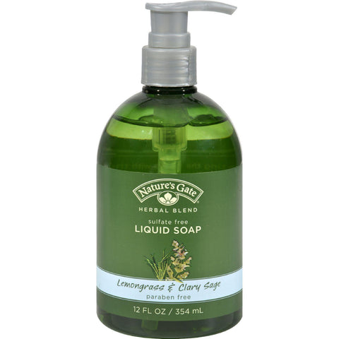 Nature's Gate Organics Liquid Soap Lemongrass And Clary Sage - 12 Fl Oz