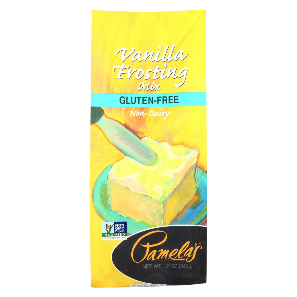 Pamela's Products Frosting Mix - Vanilla - Case Of 6 - 12 Oz.