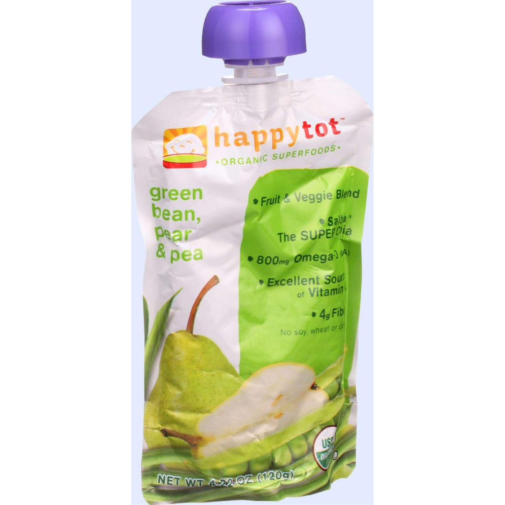 Happy Tot Toddler Food - Organic - Stage 4 - Green Beans Pear And Pea - 4.22 Oz - Case Of 16