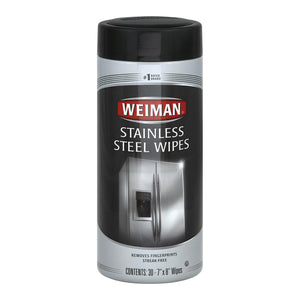 Weiman Stainless Steel Wipes - Case Of 4 - 30 Count