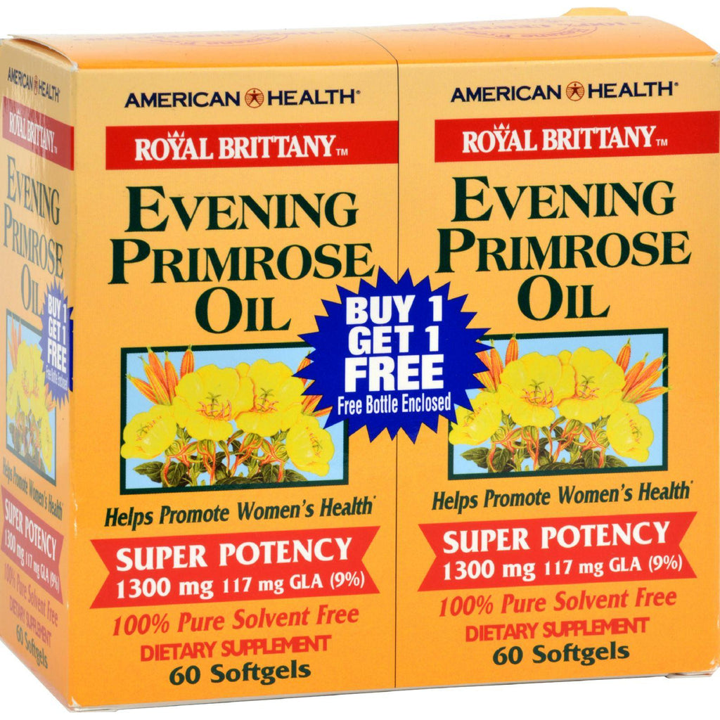 American Health Evening Primrose Oil - 1300 Mg - 60+60 Softgels