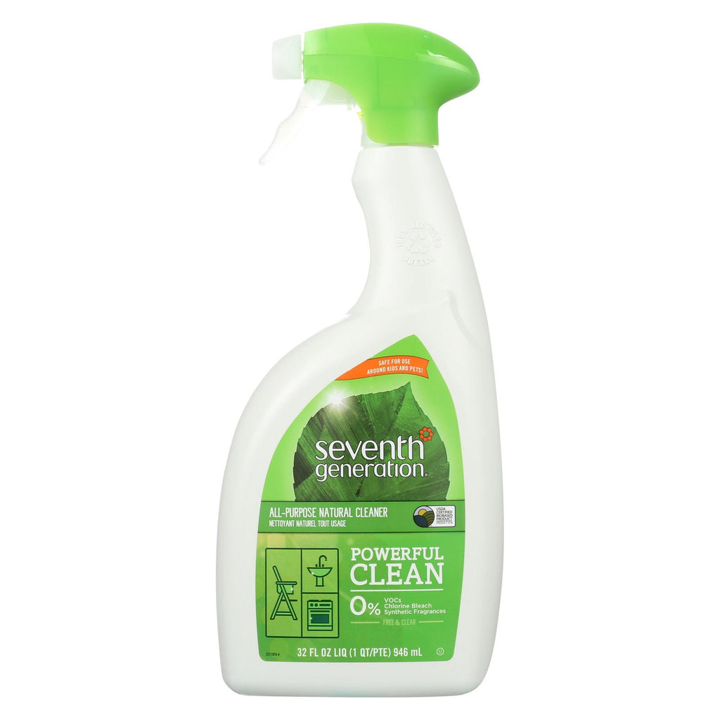 Seventh Generation All Purpose Natural Cleaner - Free And Clear - Case Of 8 - 32 Fl Oz.