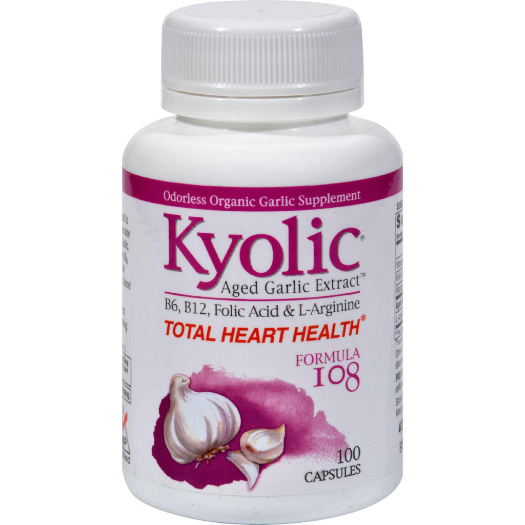 Kyolic Aged Garlic Extract Total Heart Health Formula 108 - 100 Capsules