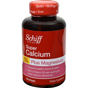 Schiff Super Calcium Magnesium With Vitamin D - 90 Softgels
