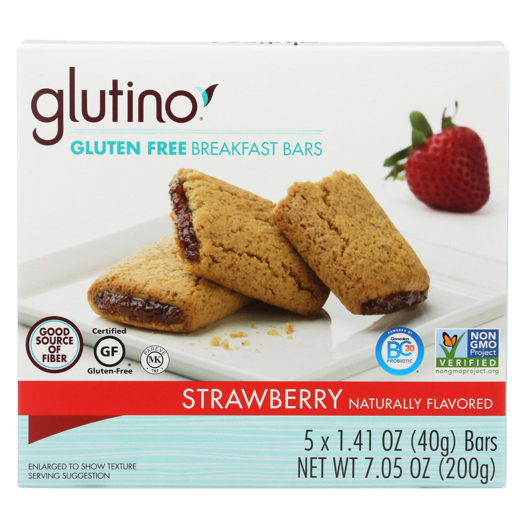 Glutino Breakfast Bars - Strawberry - Case Of 12 - 7.05 Oz.