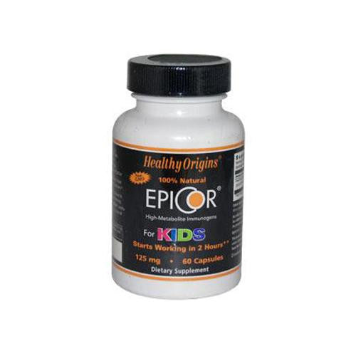 Healthy Origins Epicor For Kids - 125 Mg - 60 Capsules