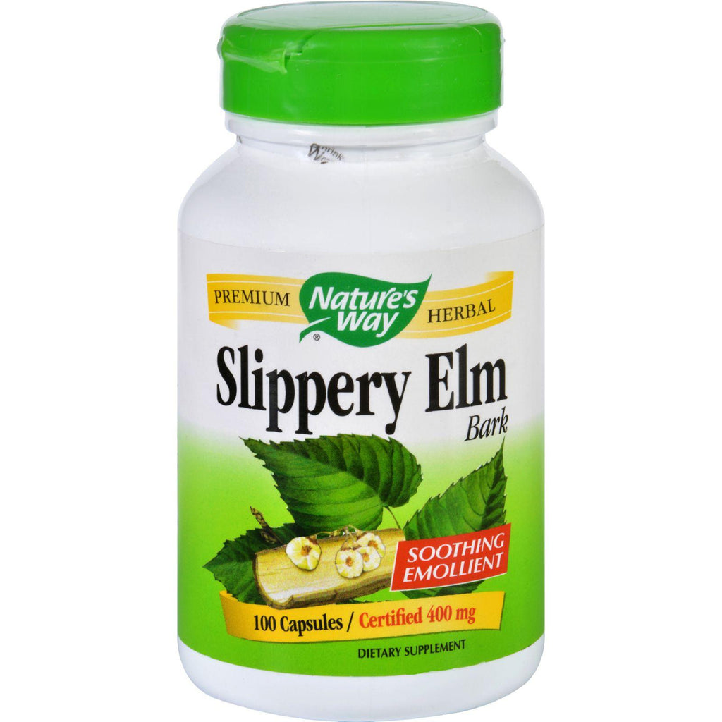 Nature's Way Slippery Elm Bark - 100 Capsules