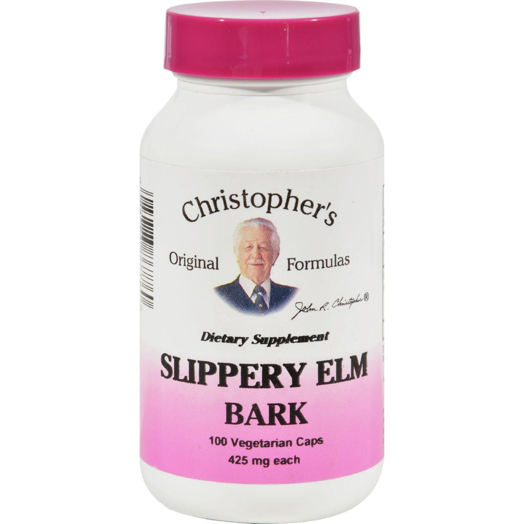 Dr. Christopher's Slippery Elm Bark - 425 Mg - 100 Vegetarian Capsules