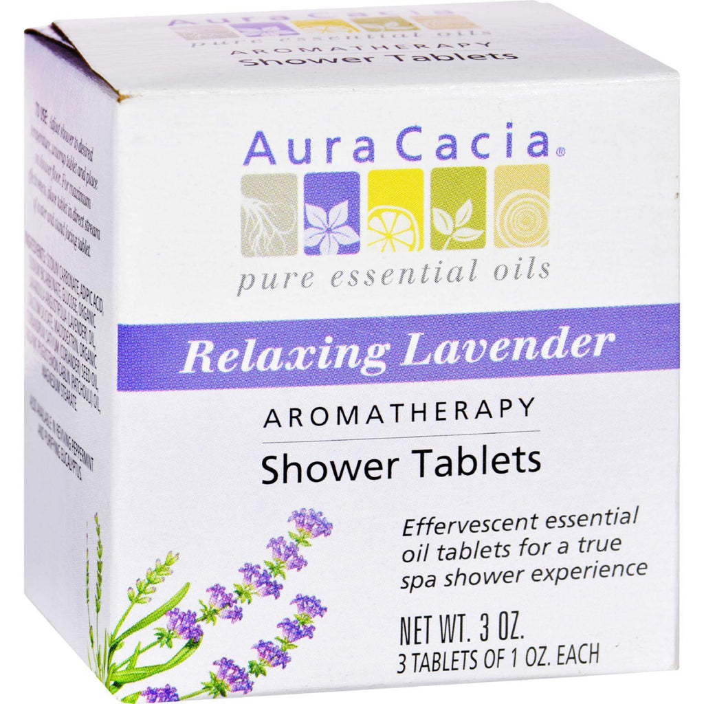Aura Cacia Aromatherapy Shower Tablets Relaxing Lavender - 3 Tablets