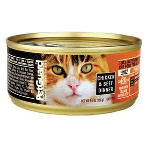Petguard Cats Food - Chicken And Beef Dinner - Case Of 24 - 5.5 Oz.