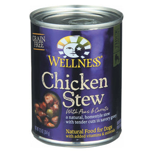 Wellness Pet Products Dog Food - Chicken With Peas And Carrots - Case Of 12 - 12.5 Oz.