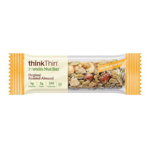 Think Products Thinkthin Protein Nut Bar - Original Roasted Almond - Case Of 10 - 1.41 Oz