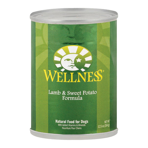 Wellness Pet Products Dog Food - Lamb And Sweet Potato Recipe - Case Of 12 - 12.5 Oz.