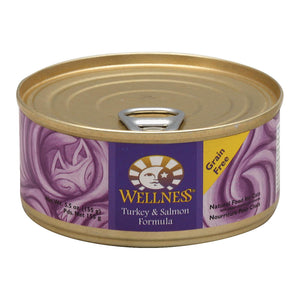 Wellness Pet Products Cat Food - Turkey And Salmon Recipe - Case Of 24 - 5.5 Oz.