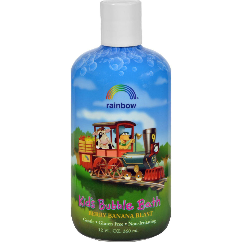 Rainbow Research Organic Herbal Bubble Bath For Kids Berry Banana Blast - 12 Fl Oz