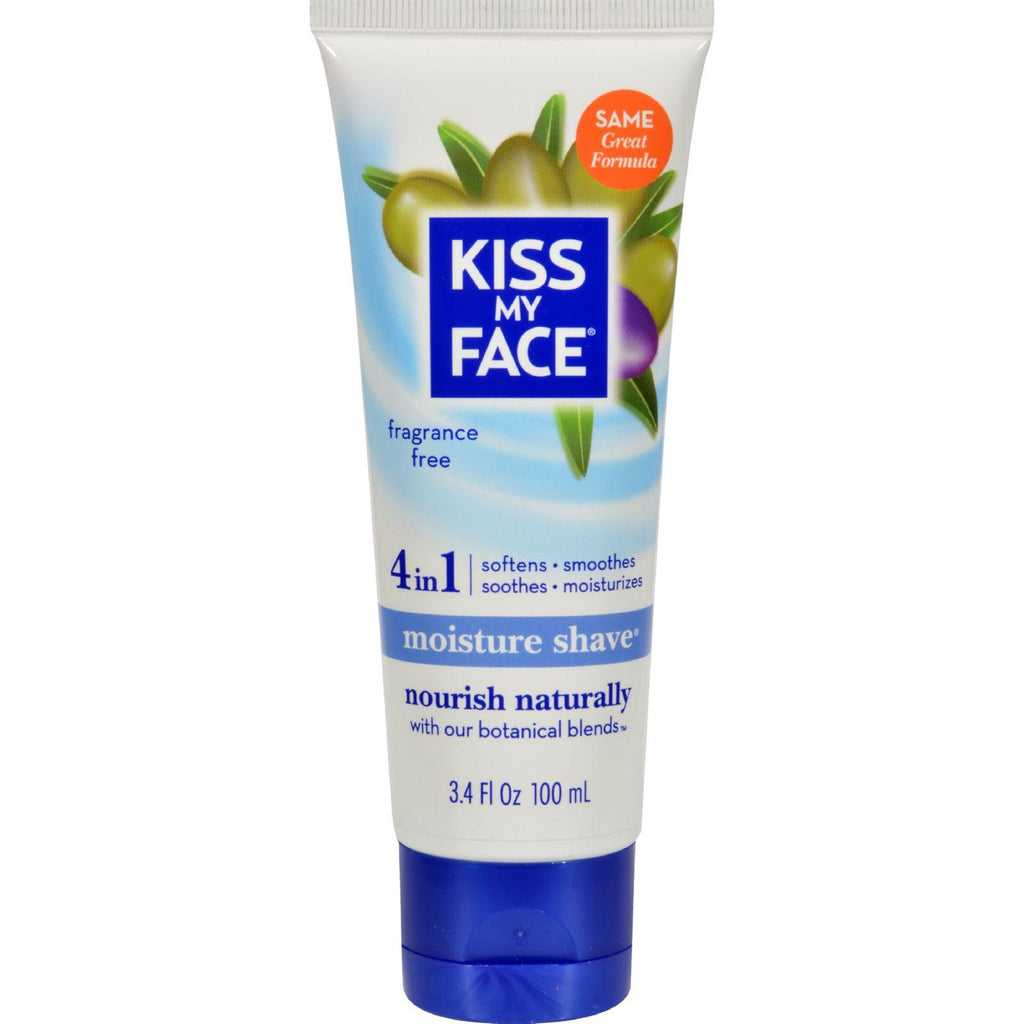 Kiss My Face Moisture Shave Fragrance Free - 3.4 Fl Oz