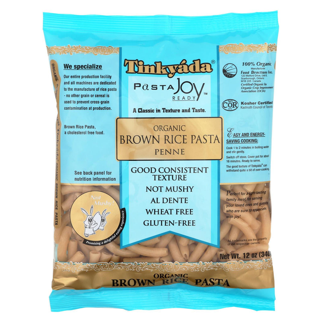 Tinkyada Organic Brown Rice Penne - Case Of 12 - 12 Oz.