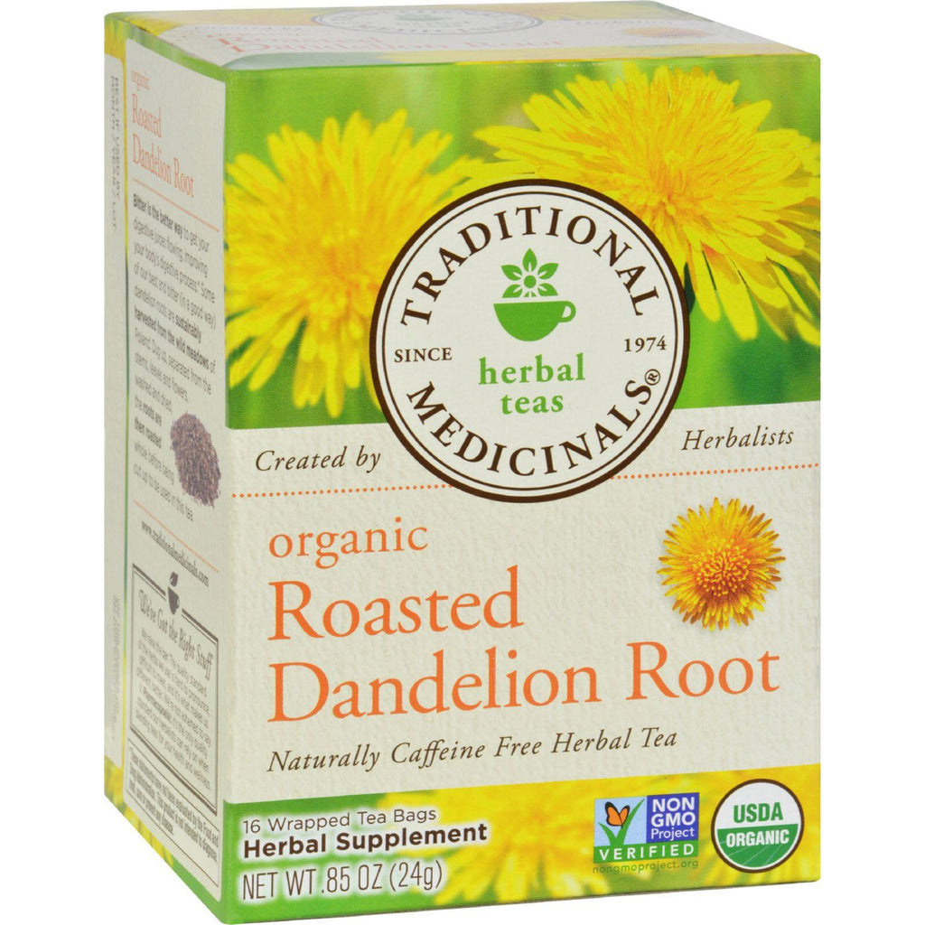 Traditional Medicinals Organic Roasted Dandelion Root Tea - Caffeine Free - 16 Bags