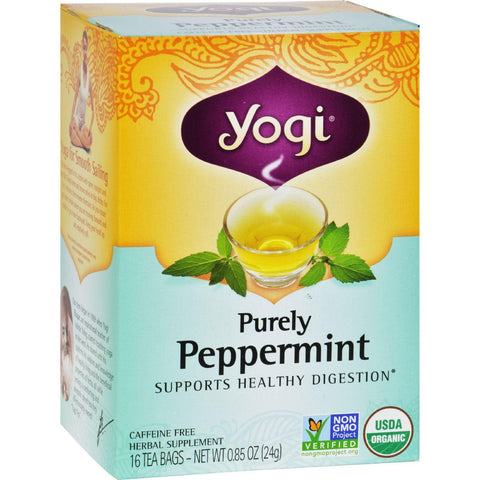 Yogi Tea Purely Peppermint - Caffeine Free - 16 Tea Bags