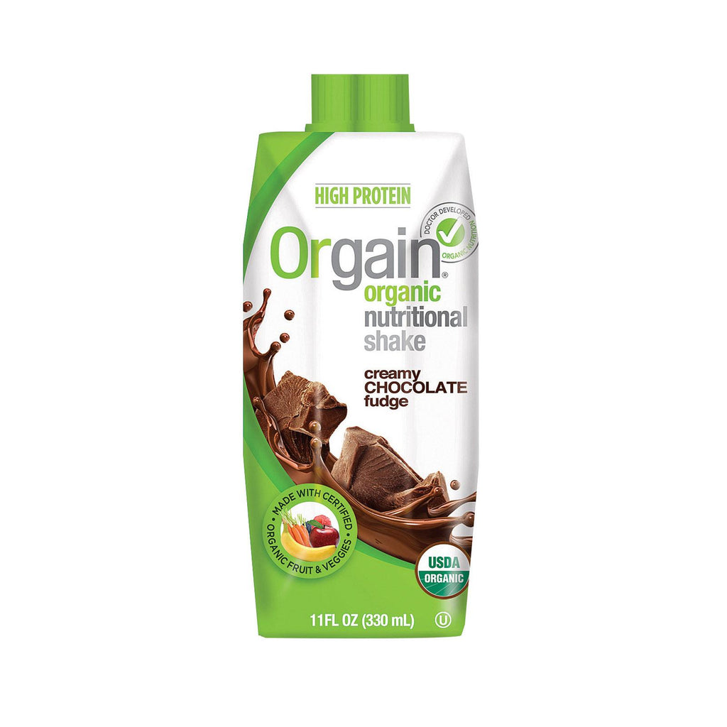 Orgain Organic Nutritional Shakes - Creamy Chocolate Fudge - 11 Fl Oz.