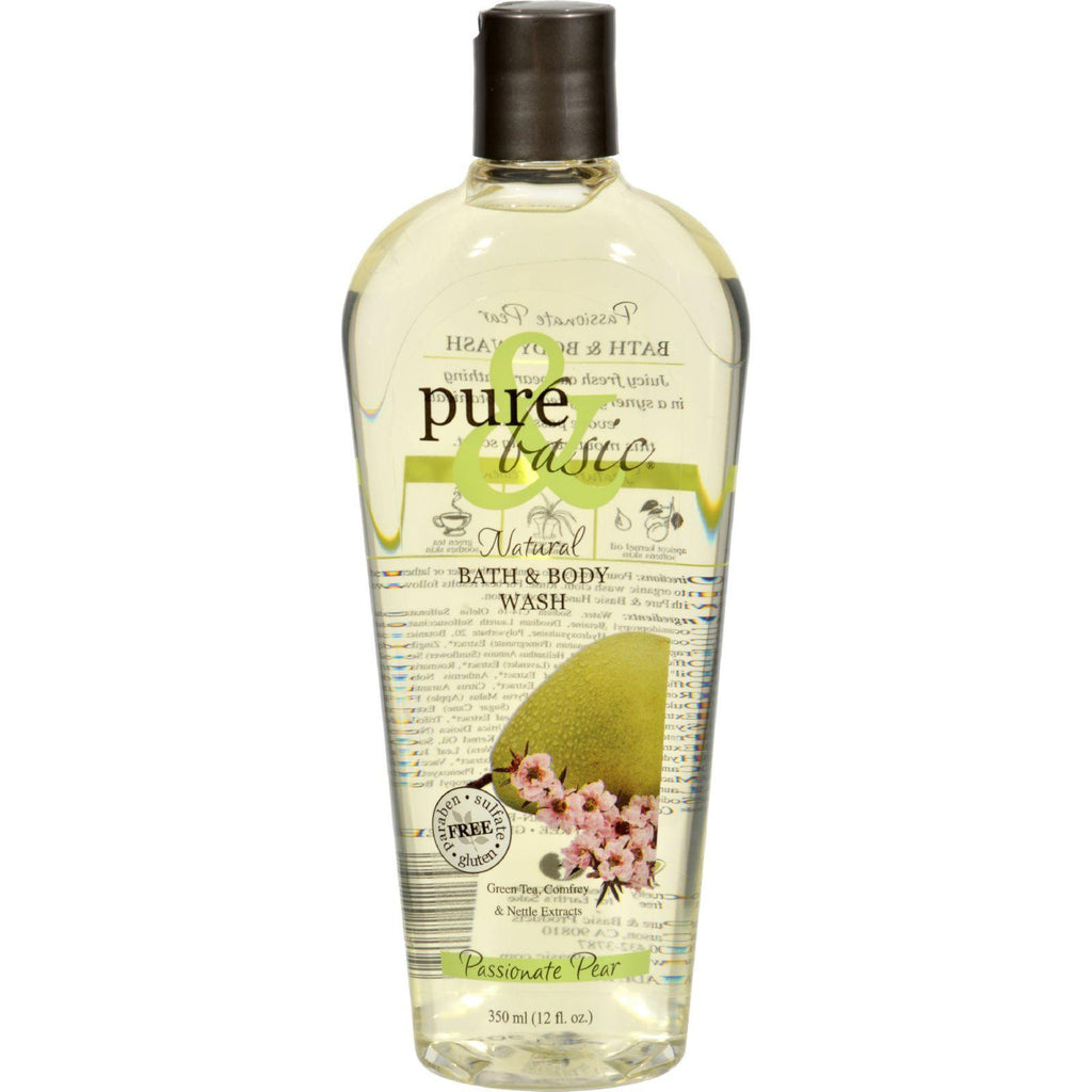 Pure And Basic Body Wash - Passionate Pear - 12 Oz