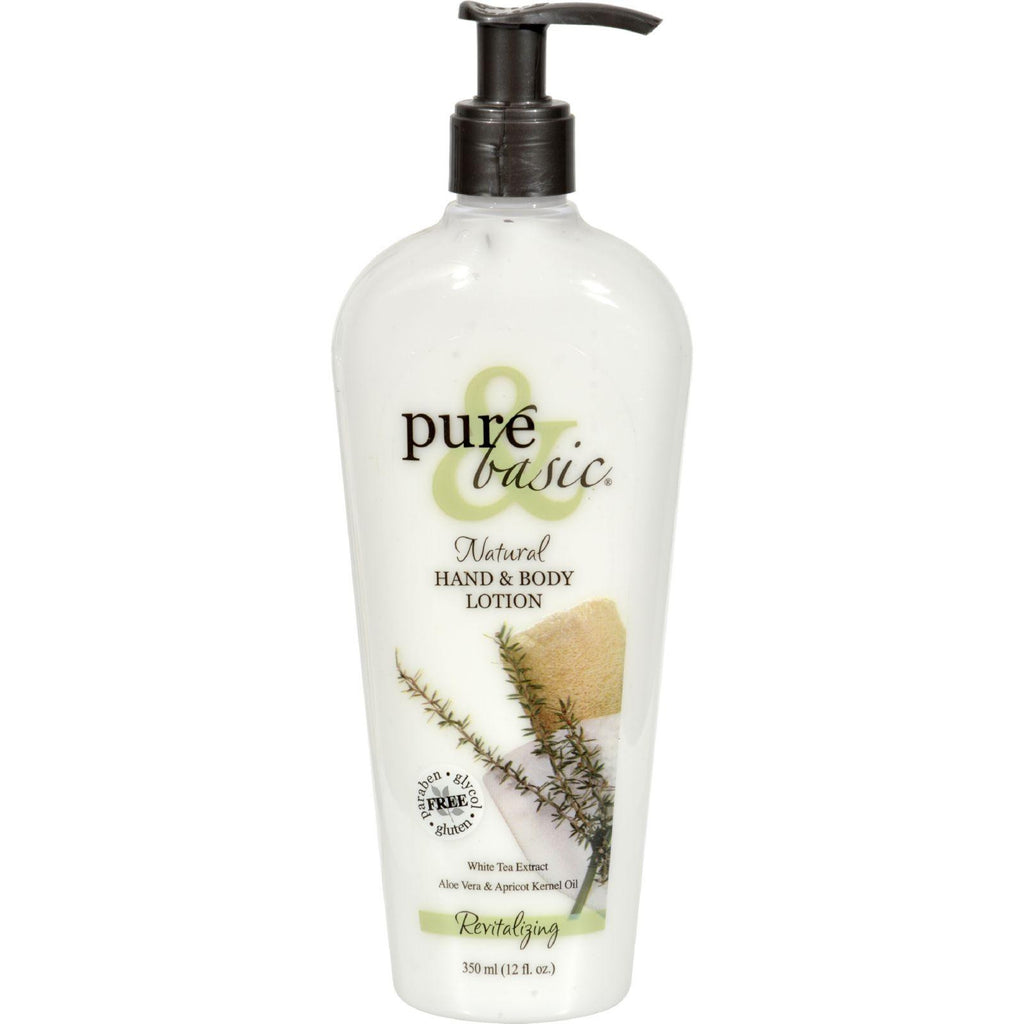 Pure And Basic Natural Revitalizing Hand And Body Lotion - 12 Oz