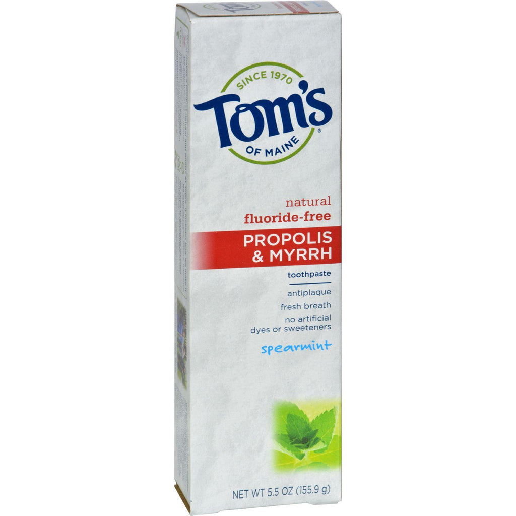 Tom's Of Maine Propolis And Myrrh Toothpaste Spearmint - 5.5 Oz - Case Of 6