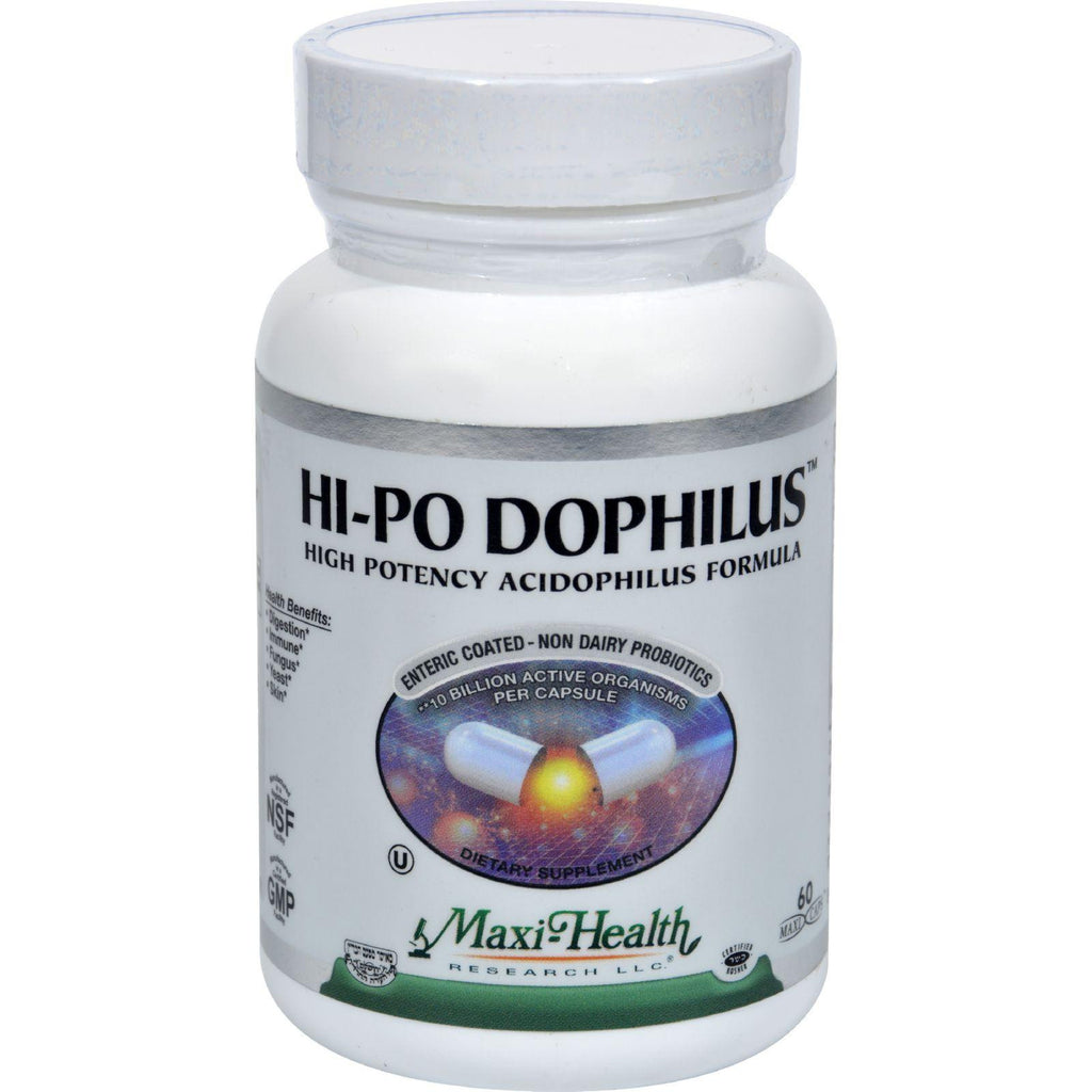Maxi Health Hi-po Dophilus High Potency Acidophilus Formula - 60 Caps