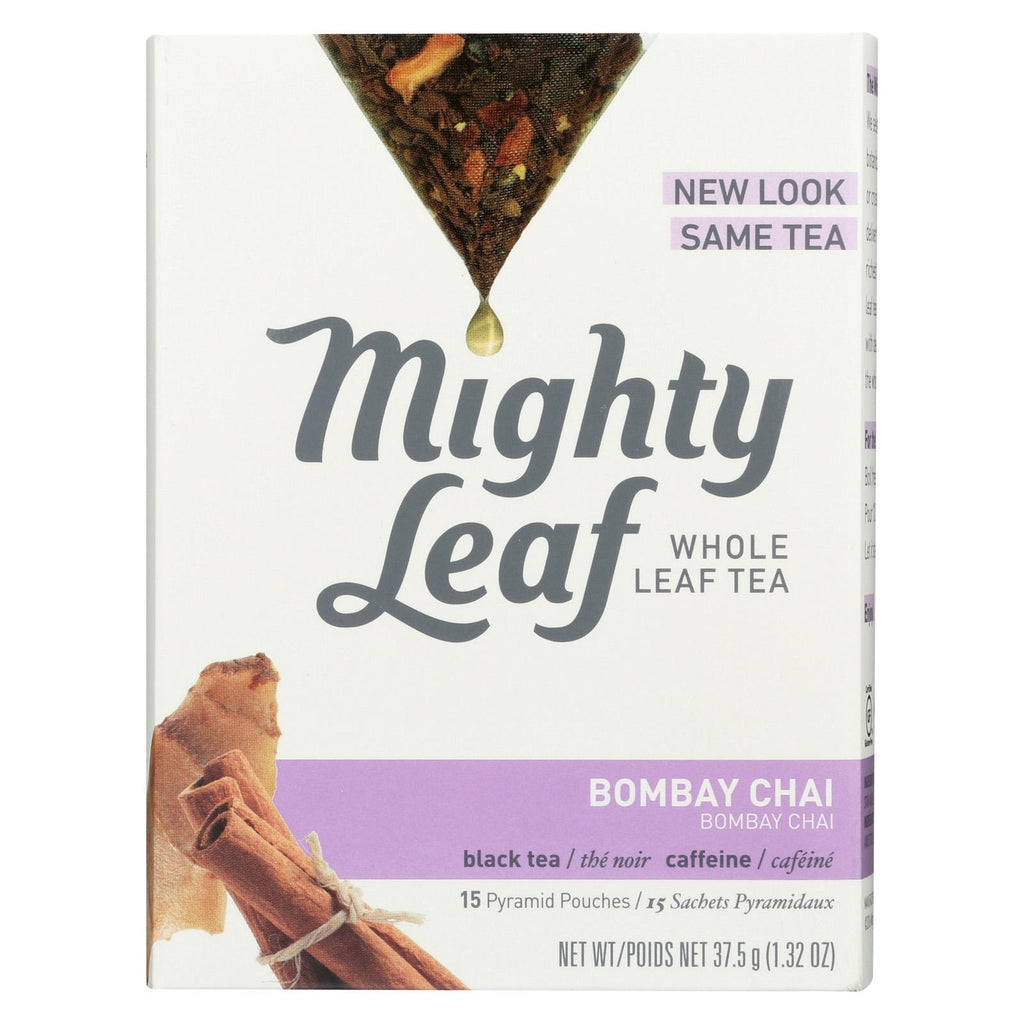 Mighty Leaf Tea Black Tea - Bombay Chai - Case Of 6 - 15 Bags