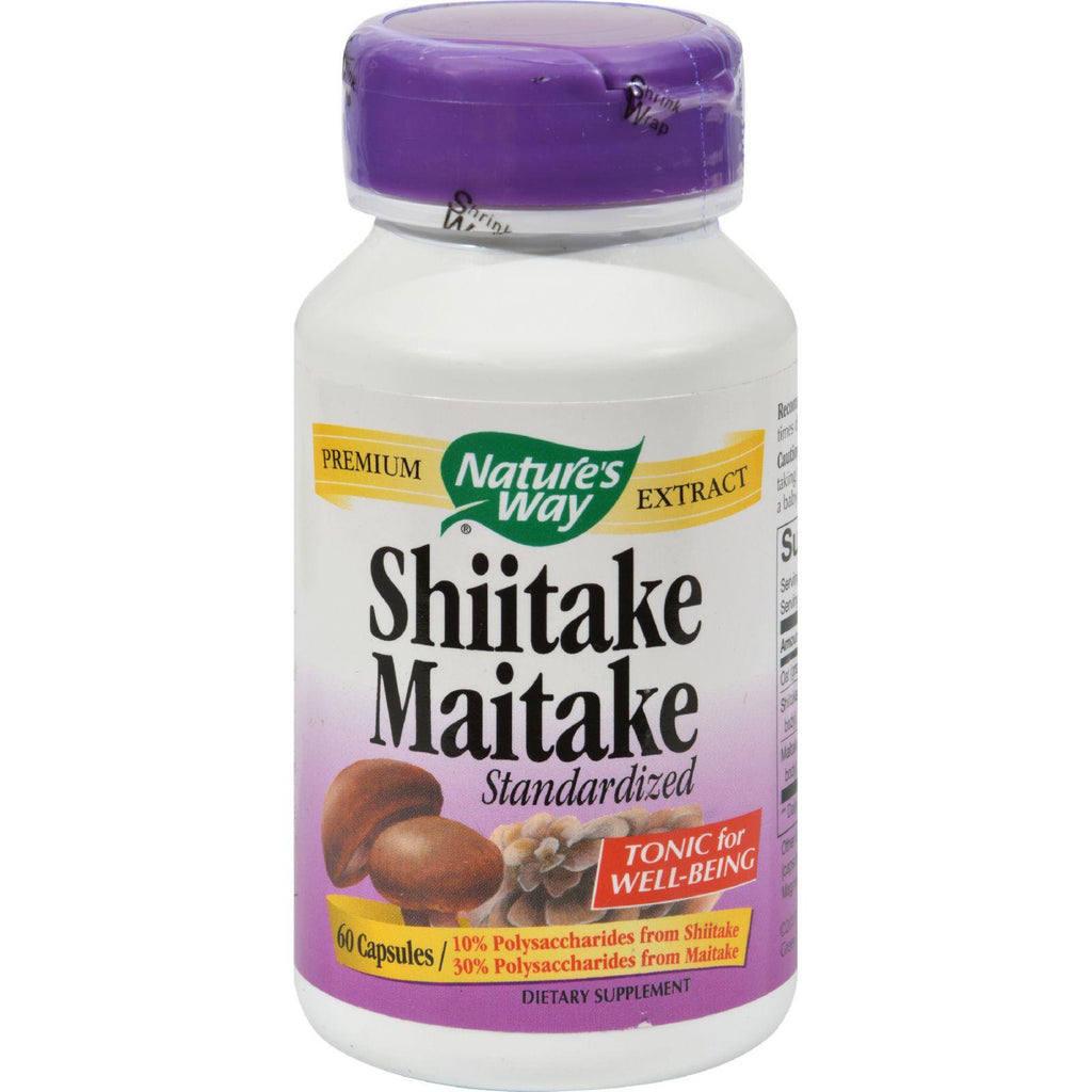 Nature's Way Shiitake And Maitake Standardized - 60 Capsules
