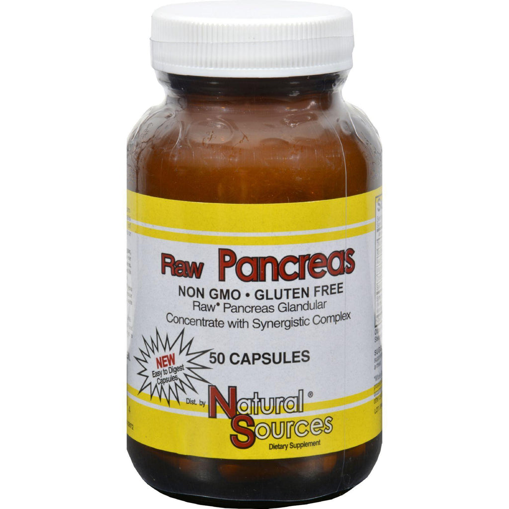 Natural Sources Raw Pancreas - 50 Capsules