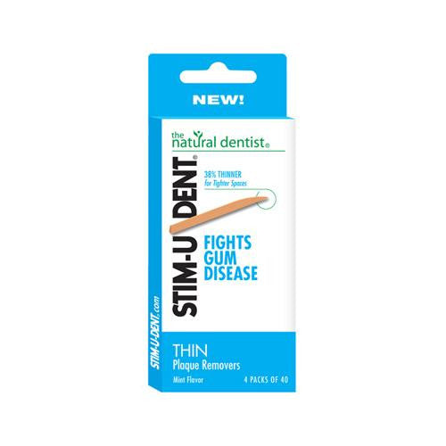 Natural Dentist Stim-u-dent Thin Plaque Removers - Case Of 12 - 160 Counts