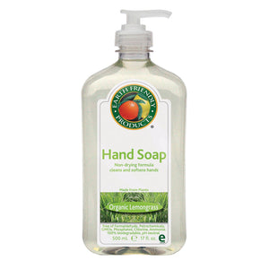 Earth Friendly Hand Soap - Lemongrass - Case Of 6 - 17 Fl Oz.