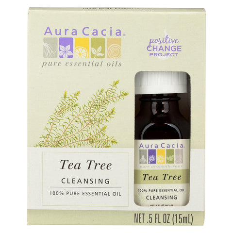Aura Cacia Essential Oil - T-tree - Case Of 3 - .5 Fl Oz