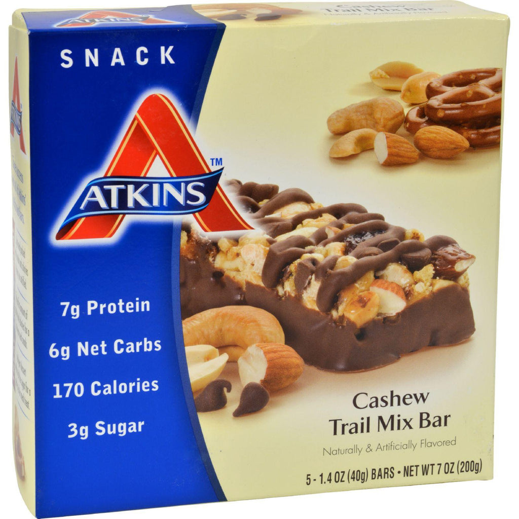 Atkins Advantage Bar Cashew Trail Mix - 5 Bars