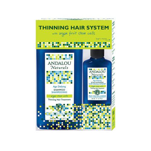 Andalou Naturals Thinning Hair System With Argan Fruit Stem Cells - 3 Pieces