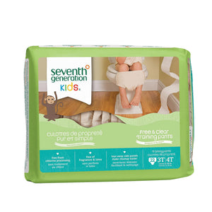 Seventh Generation Free And Clear Training Pants - 3t - 4t - Case Of 4 - 22 Count