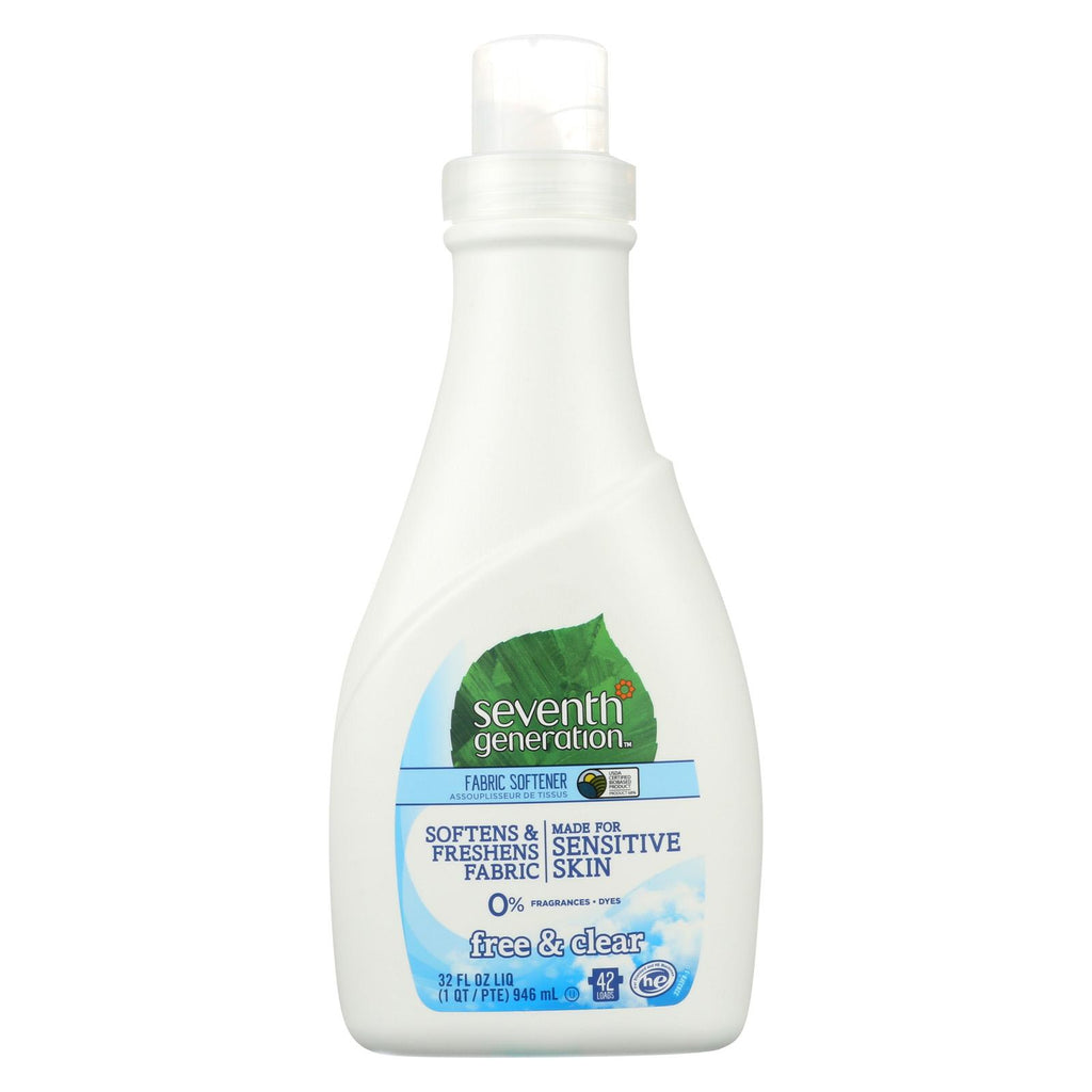 Seventh Generation Natural Liquid Fabric Softener - Free And Clear - Case Of 6 - 32 Fl Oz.
