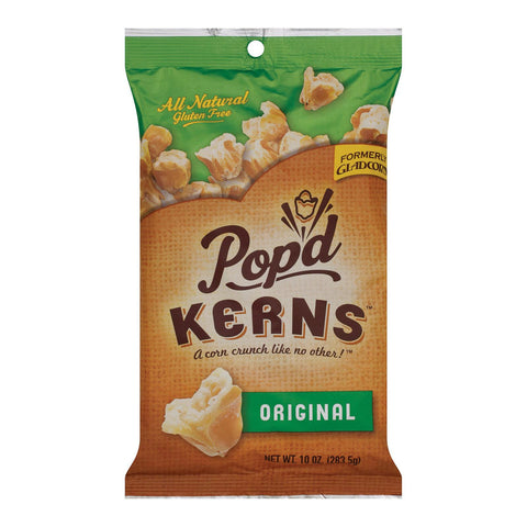 Pop'd Kerns Corn Snacks - Original - Case Of 8 - 10 Oz.