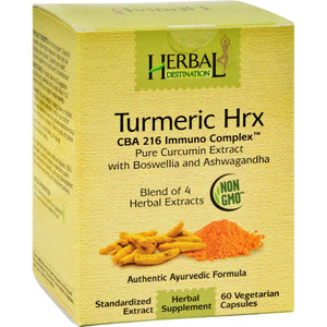 Herbal Destination Tumeric Hrx - 60 Vcaps