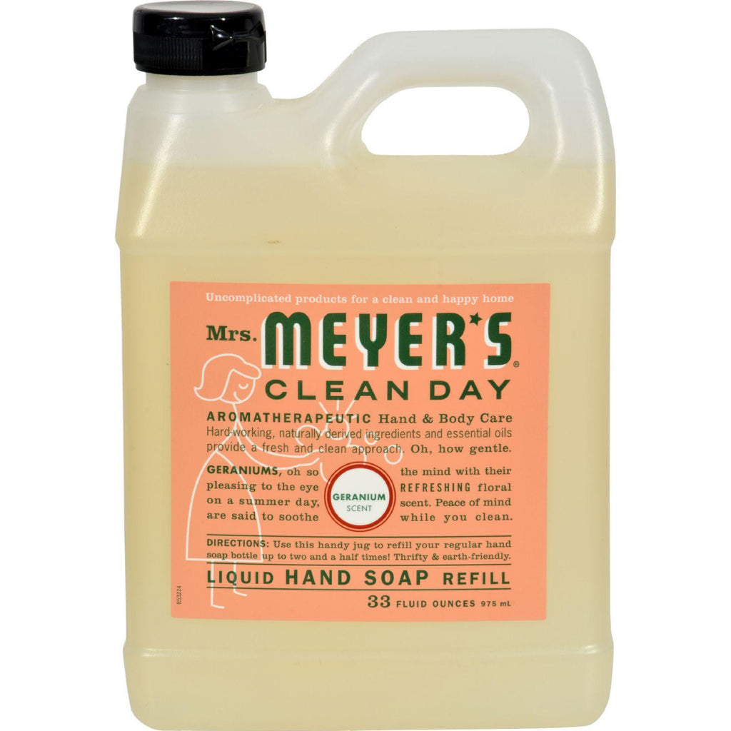 Mrs. Meyer's Liquid Hand Soap Refill - Geranium - 33 Lf Oz - Case Of 6